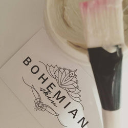 Image of facial brush with Bohemian Skin product on it.