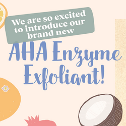 Adding Colour to Our New AHA Enzyme Exfoliant