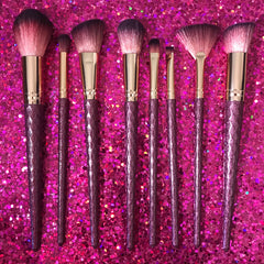 8 piece Red Glitter Brush Set