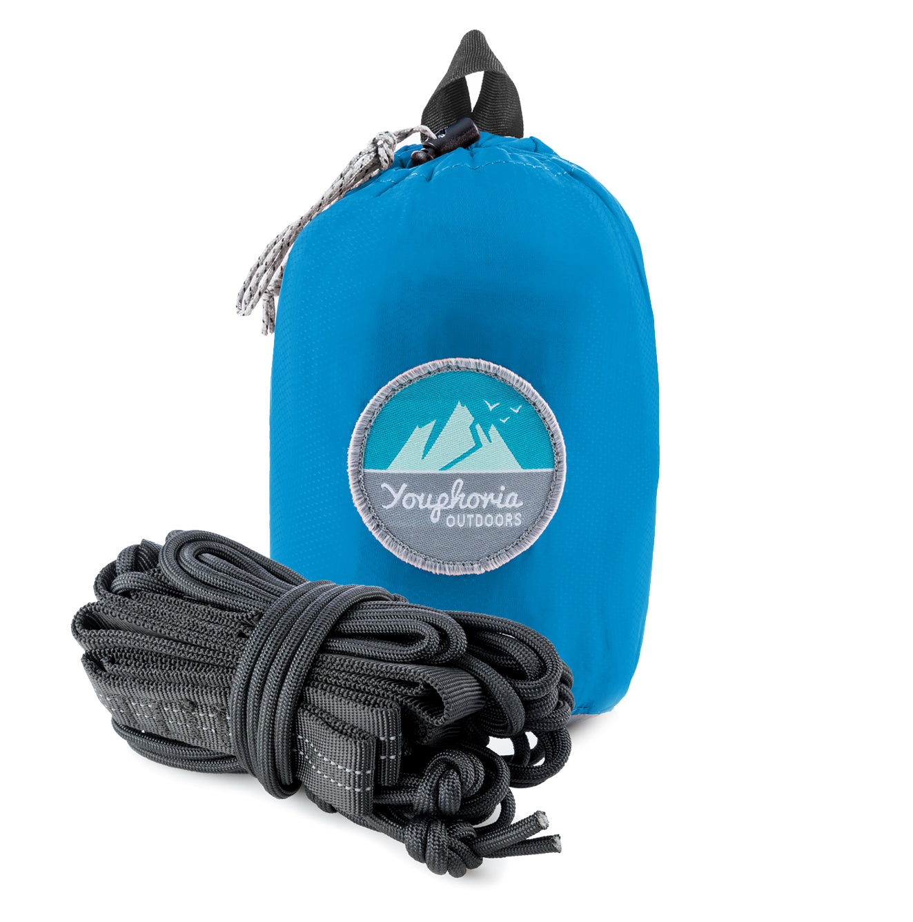 Youphoria Outdoors Portable Camping Ultralight Hammock packed in bag.