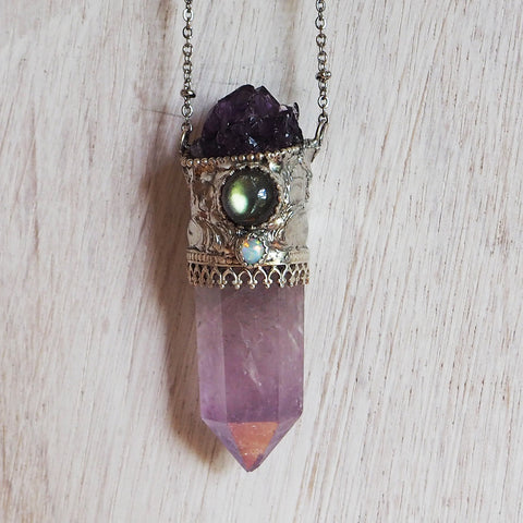 Seraphina Amethyst Point Necklace