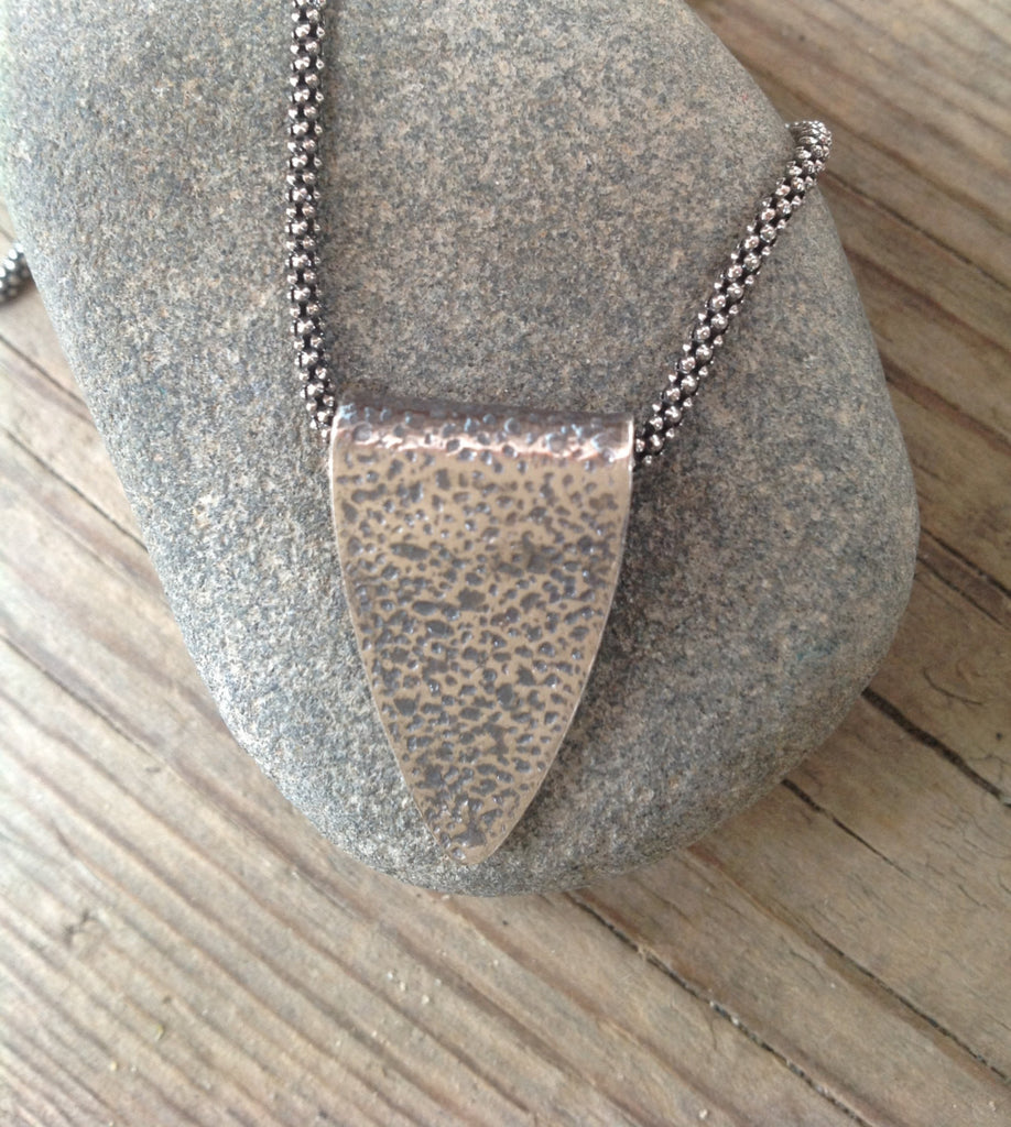 Sterling Silver Arrowhead Pendant Necklace Totally Handmade