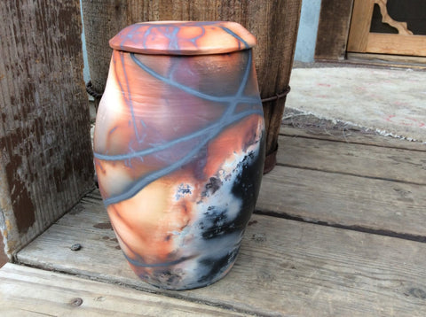 Cremation Urn for Ashes Custom Ceramic Urn Human Urn Memorial Urn Pottery Saggar Handmade