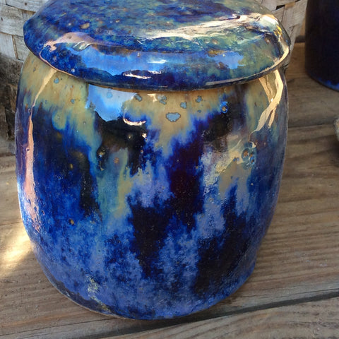 Custom Ceramic Pet Urn Dog Urn Cat Urn Starry Night Glaze