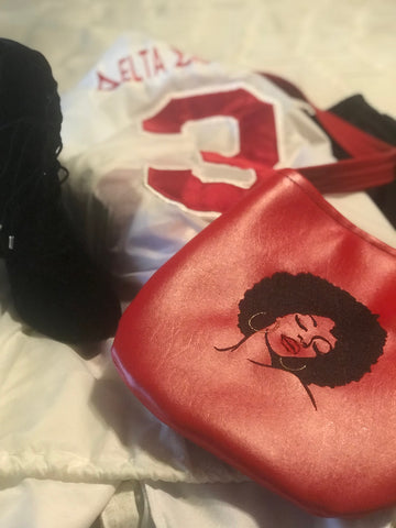 Custom Afro Crossbody Bag