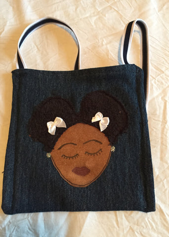 Small Afro Puff Bag