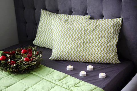 Pickle Green Chevron