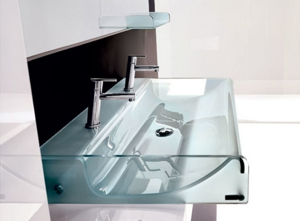 Glass sink