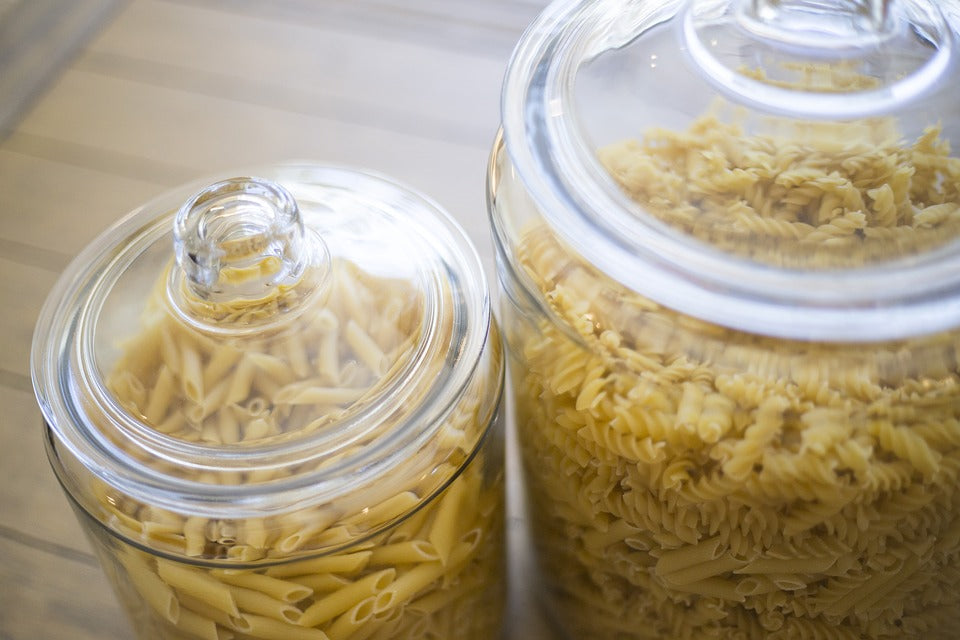Store all food supplies in airtight containers
