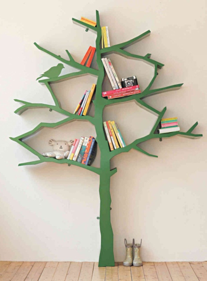 Image Source:  Http://www.fikee.com/wp Content/uploads/2014/12/stunning Green Tree Shaped  Book Shelf For Bedroom Or Living Room Focal Points