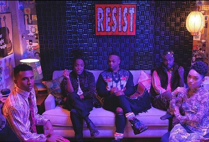 RESIST painting featured on Netflix's Dear White People S2