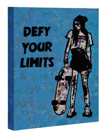 Urban art print on canvas Defy Your Limits 18x24 by Amy Smith
