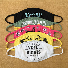 Vote like your rights depend on it face mask by Amy Smith