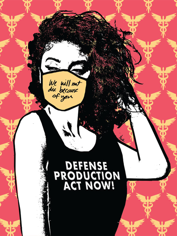 Defense Production Act now fine art limited edition print by Amy Smith