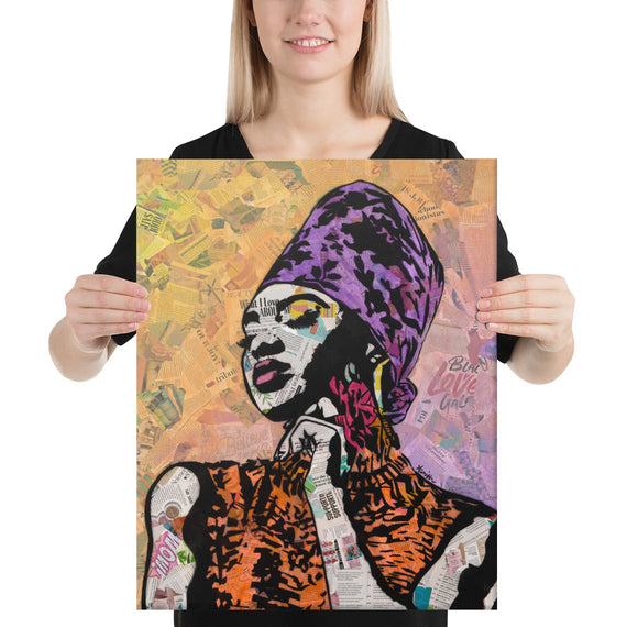 Urban art print on canvas Queen 16,20, 18x24,24x36