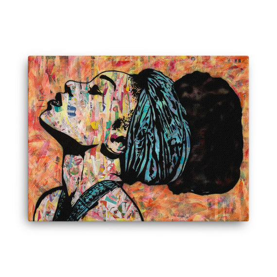 Urban Art Print on Canvas Breathless 18x24