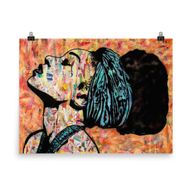 Breathless poster print collage wall art