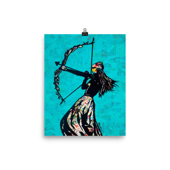 The Archer poster print collage wall art