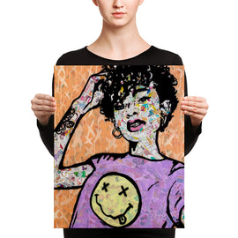 Urban art print on canvas Nevermind by Amy Smith