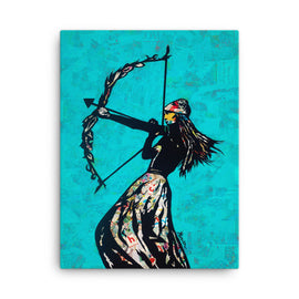 Urban art print on canvas The Archer 18x24 by Amy Smith