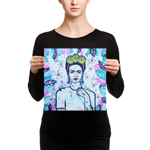 Frida mural art on canvas 12x12