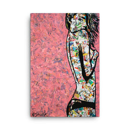 Urban art print on canvas Oh hello there 24x36 by Amy Smith