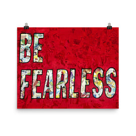 Be Fearless poster print collage wall art