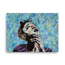Urban art print on canvas The Thinker by Amy Smith