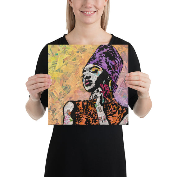 Urban art print on canvas - Queen by Amy Smith