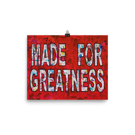 Made for Greatness poster print collage wall art