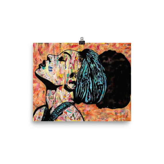 "Contemporary urban art print ""Breathless"" by Amy Smith"