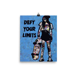 Defy your limits poster print collage wall art