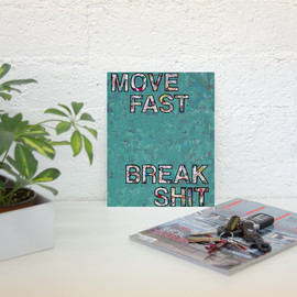 Move Fast poster print collage wall art