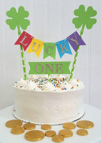 Lucky one birthday cake topper