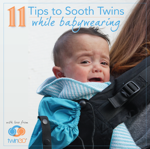 11 tips to sooth twins while tandem babywearing in a TwinGo Carrier