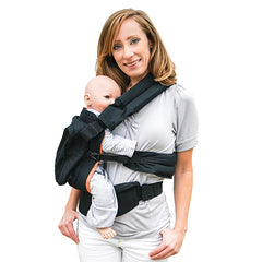 twin baby carrier worn on hip | Tandem babywearing | TwinGo Carrier