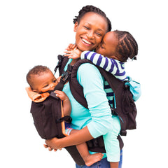 twin baby carrier with close-in-age children | Tandem babywearing | Baby Carrier for twins | TwinGo Carrier