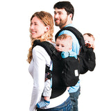 Twin baby carrier on back
