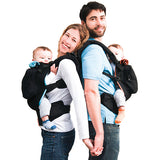 Twin baby carrier on front