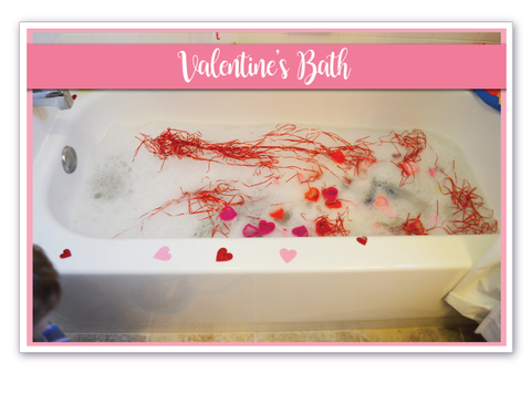 Valentines bath for kids