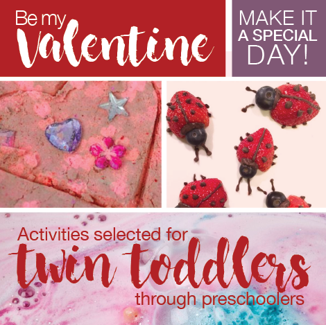 Valentine activities for twin toddlers