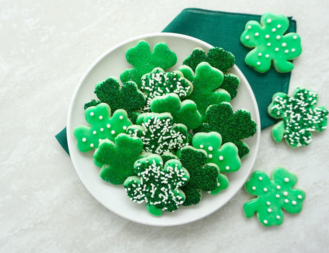 cookie cutter cookies, shamrock cookies, st. patrick's day