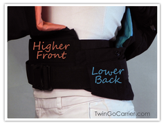 Twin Baby Carrier Waist belt low