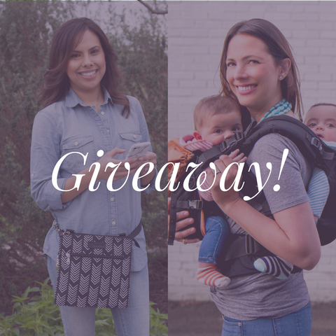 tandem breast feeding twin baby carrier giveaway