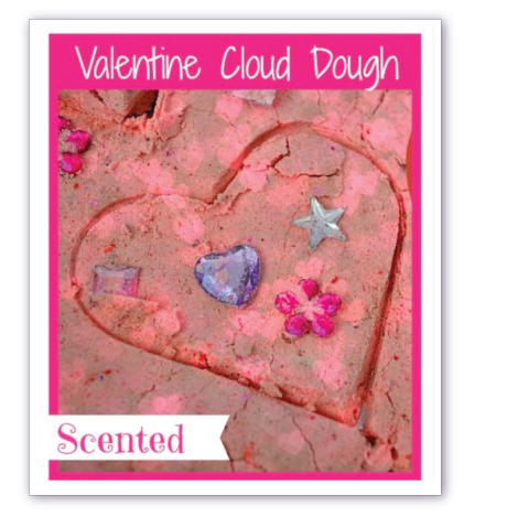Cloud Dough Sensory Activity for Valentines