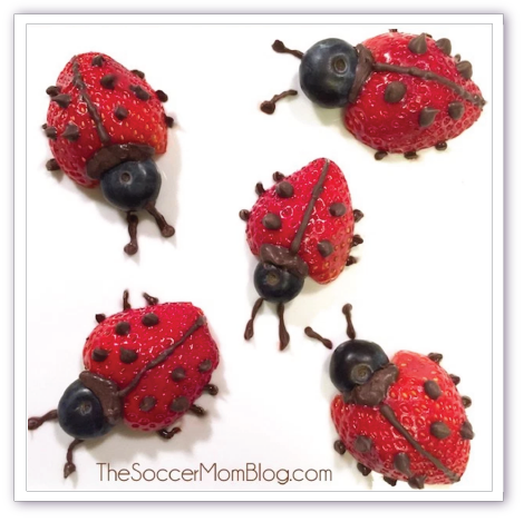 Love bug snack for Valentines