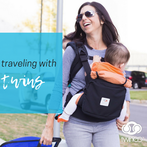traveling with twins tips baby carrier blog