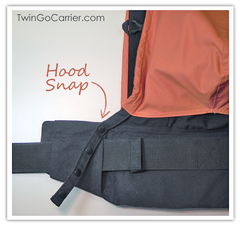 Twin Baby Carrier Sleep Hood Snaps