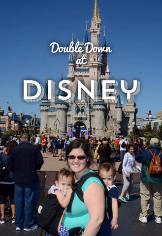 twin mom at disney with twins