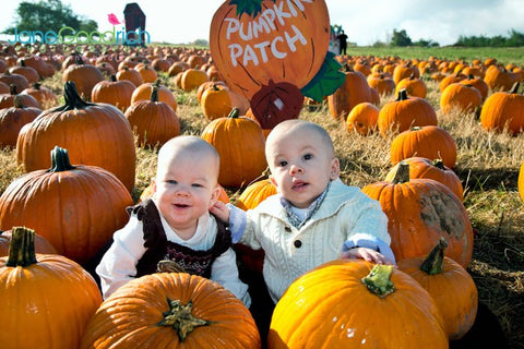 twins at pumpkin patch